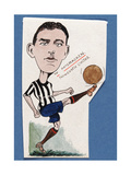 Billy McCracken, Newcastle United, Drawing for a Set of Cigarette Cards, 1907 Giclee Print by  Rip