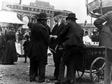 Funfair on Market Street, Kidderminster, 1900 Photographic Print by  English Photographer