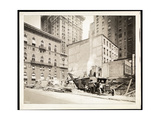 Excavations at the Building Site for the Aeolian Company Building at 5th Avenue and 54th Street,… Giclee Print by  Byron Company