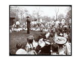 Children Watching an Entertainer on Arbor Day at Tompkins Square Park, New York, 1904 Giclee Print by  Byron Company
