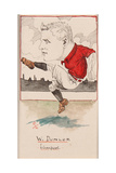 Billy Dunlop, Liverpool, Drawing for a Set of Cigarette Cards, 1907 Giclee Print by  Rip