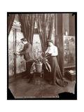 James K. Hackett and Wife (Mary Mannering) at Home, c.1902 Giclee Print by  Byron Company