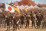 Japanese Kwatung Army Pioneers in Manchuria Photographic Print by  Japanese Photographer