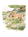 'I Romped All Day in the Sunny Meadow with the Silly Little Lambs', Illustr Giclee Print by Anne Anderson