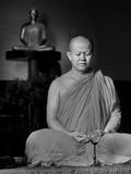Monk Meditating Photographic Print
