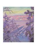 A Winter Landscape, 1917 Giclee Print by Akseli Valdemar Gallen-kallela