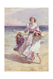 A Breezy Day at the Seaside Giclee Print by William Kay Blacklock