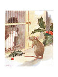 'Saw a Prison and in it the White Ghost of a Mouse', Illustration from 'The Mischievious Mousie… Gicleetryck av Anne Anderson
