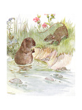 'Called on Squire Water Rat, Old Friend of the Family', Illustration from ' Giclee Print by Anne Anderson