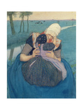 Mother and Child, 1900 Giclee Print by Charles William Bartlett