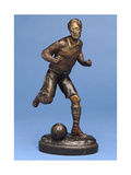 Footballer Running with the Ball, c.1900 Giclee Print by G. Omerth