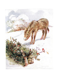 'Very Cold and Ground All White. Can't Find Anything to Eat', Illustration  Gicleetryck av Anne Anderson