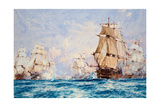 The Blockade of Toulon, the Action Off Bandol in 1810, 1918 Giclee Print by Charles Edward Dixon