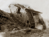 Tank in Action Photographic Print by English Photographer