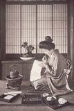Japanese Woman Writing, 1933 Photographic Print by  Japanese Photographer