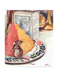 'Having a Bit of Supper - Prime Stilton', Illustration from 'The Mischievious Mousie Book',… Giclee Print by Anne Anderson