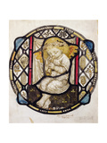 Stained Glass Design of Putto Playing the Flute Giclee Print by Robert Anning Bell