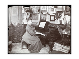 Madame Schumann Heink Seated at a Piano, 1906 Giclee Print by  Byron Company