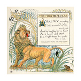 The Frightened Lion, Illustration from 'Baby's Own Aesop', Engraved and Printed by Edmund Evans,… Giclee Print by Walter Crane