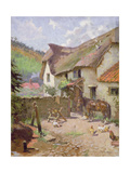 Farmyard, Porlock, Somerset Giclee Print by Leghe Suthers