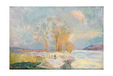 Banks of the Seine and Vernon in Winter, 1901 Giclee Print by Albert-Charles Lebourg