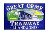 Poster Advertising the Great Orme Tramway Giclee Print by  Welsh School
