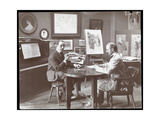 Michel Jacobs and Benson Playing Dominoes, 1907 Impression giclée par  Byron Company
