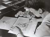 "An Animator from Disney Studios Drawing a Still for ""The Three Caballeros"", c.1944 Photographic Print by  German photographer"