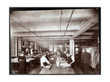 Men and Women Working on Clothing Designs in the Art Department at McCall's Magazine, New York,… Giclee Print by  Byron Company
