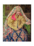 Woman in Old Russian Dress, 1916 Giclee Print by Ivan Semyonovich Kulikov