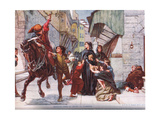 Bringing News of Relief to Florence, Illustration from 'Hutchinson's History of the Nations' Giclee Print by Frank Topham