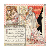 Brother and Sister, Illustration from 'Baby's Own Aesop', Engraved and Printed by Edmund Evans,… Giclee Print by Walter Crane