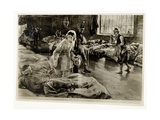 'The Heroine of Fifty Years Ago: Miss Florence Nightingale in the Hospital at Scutari', Pub. in… Giclee Print by William Hatherell