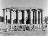 Lotus Columns, Luxor Temple, from an Album Containing 206 Photographs Compiled by Major W.H.J.… Photographic Print by  English Photographer