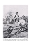Captain Cook Landing in Tasmania, 1777, Illustration from 'Hutchinson's Story of the British… Giclee Print by Richard Caton Woodville