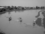Fishermen on a Klong (Canal), 1980 Photographic Print