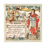 The Boaster, Illustration from 'Baby's Own Aesop', Engraved and Printed by Edmund Evans, London,… Giclee Print by Walter Crane
