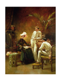 The Rivals - Tea before Tennis Giclee Print by Maude Goodman
