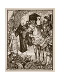 How Henry VIII Had the Monks Turned Out of the Monasteries, Illustration from 'A History of… Giclee Print by Henry Justice Ford