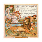 The Lion in Love, Illustration from 'Baby's Own Aesop', Engraved and Printed by Edmund Evans,… Giclee Print by Walter Crane