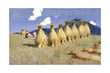 Seven Cornstooks in Upper Hungary, c.1906 Giclee Print by Adrian Scott Stokes