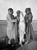 Civil Arabs with a Large Fish, 1914-18 Photographic Print by  English Photographer