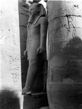 Statue of Rameses II, Luxor Temple, from an Album Containing 206 Photographs Compiled by Major… Photographic Print by  English Photographer