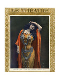 Emma Calve as Salome, Front Cover of 'Le Theatre' Magazine, 1903 Giclee Print by  Cautin & Berger
