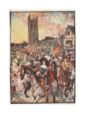 Prince Rupert at Oxford, Going to Battle, Illustration from 'A History of England' by C.R.L.… Giclee Print by Henry Justice Ford
