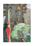 Illustration from 'Rapunzel' by the Brothers Grimm Gicleetryck av Anne Anderson