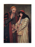 Shylock and Jessica, Illustration from 'The Merchant of Venice', c.1910 Giclee Print by Sir James Dromgole Linton