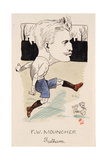 Fred Mouncher, Fulham, Drawing for a Set of Cigarette Cards, 1907 Giclee Print by  Rip
