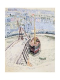 The 'Sans Pareil' in Brixham Harbour, c.1931 Gicléetryck av Dora Carrington