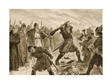 King Olaf the Saint Breaking the Image of the God Thor, 1020 Giclee Print by John Harris Valda